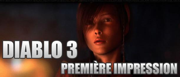Première impression de Diablo 3