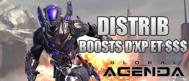 Global Agenda – 50 codes pour des boosts in-game