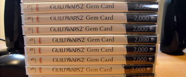GW2 Gem cards