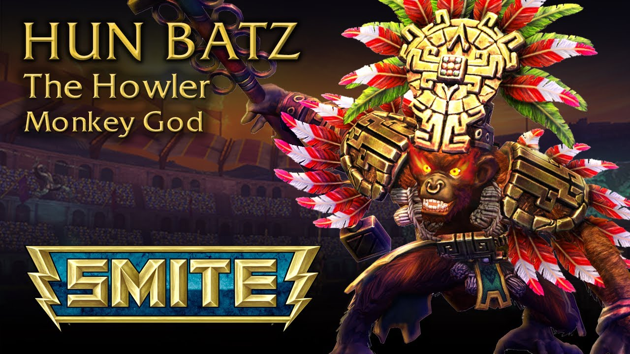 Smite – God Reveal sur Hun Batz, The Howler Monkey God